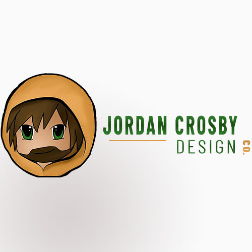 Jordan Crosby design logo in branded colors on a white background