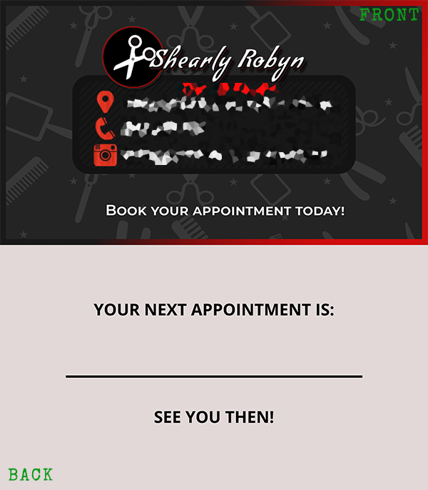 Shearly Robyn Business Card